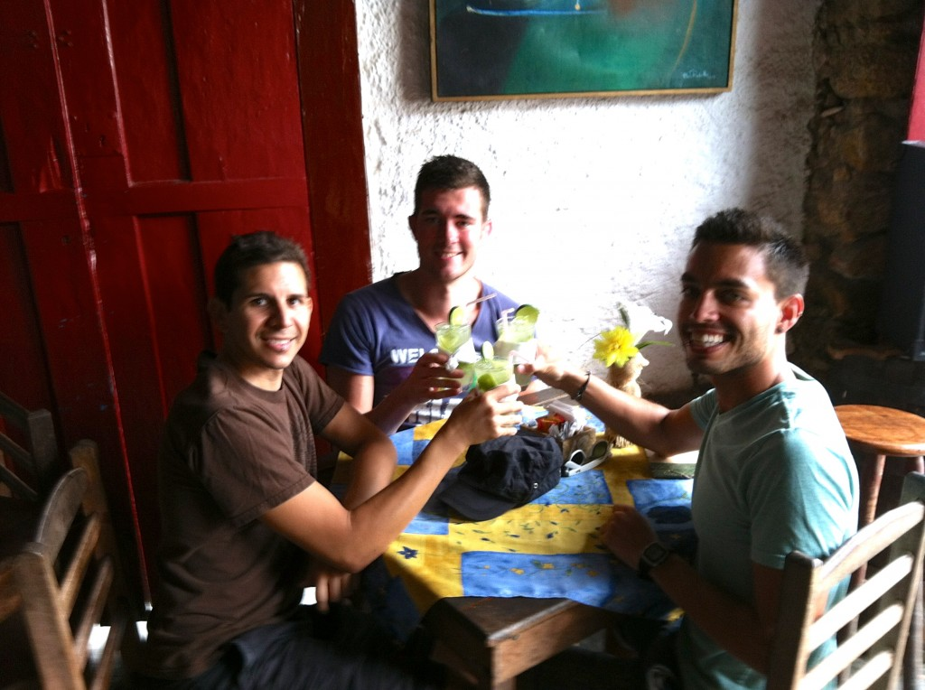 First caipirinhas