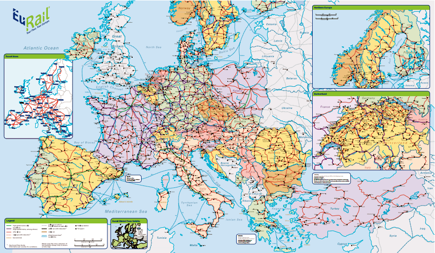 train – Train Travel Europe Map