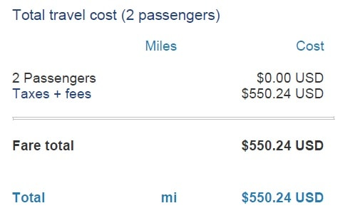 RTW flight cost with airline miles