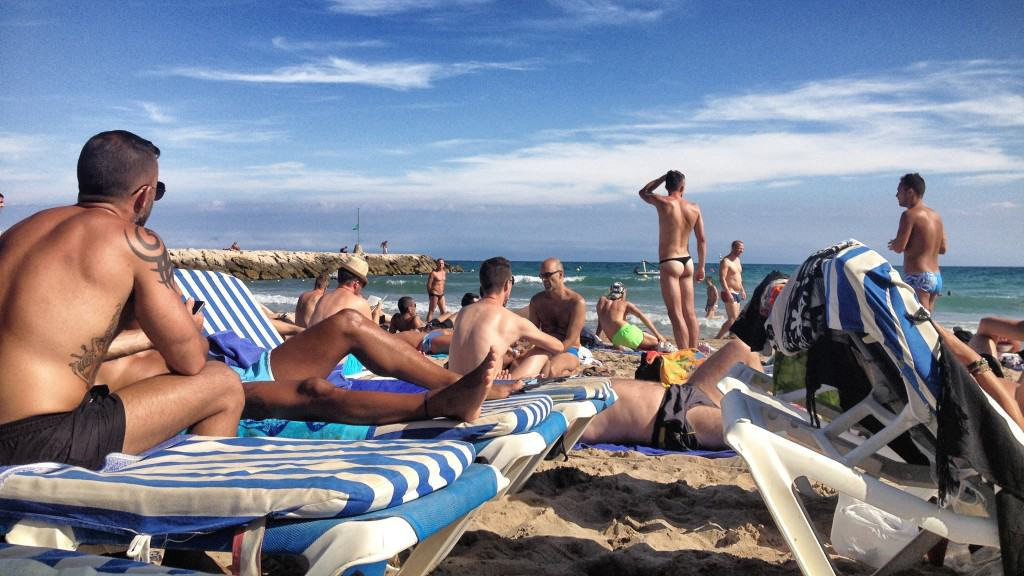 Gay beach in Sitges