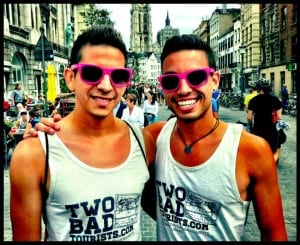 David and Auston at Antwerp Gay Pride