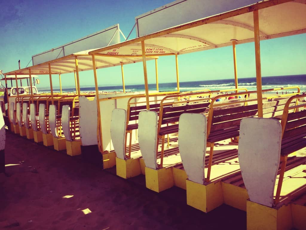 Beach trolly in Costa da Caparica