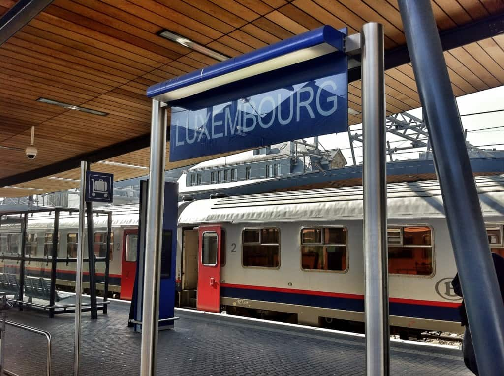 Central Train Station in Luxembourg City