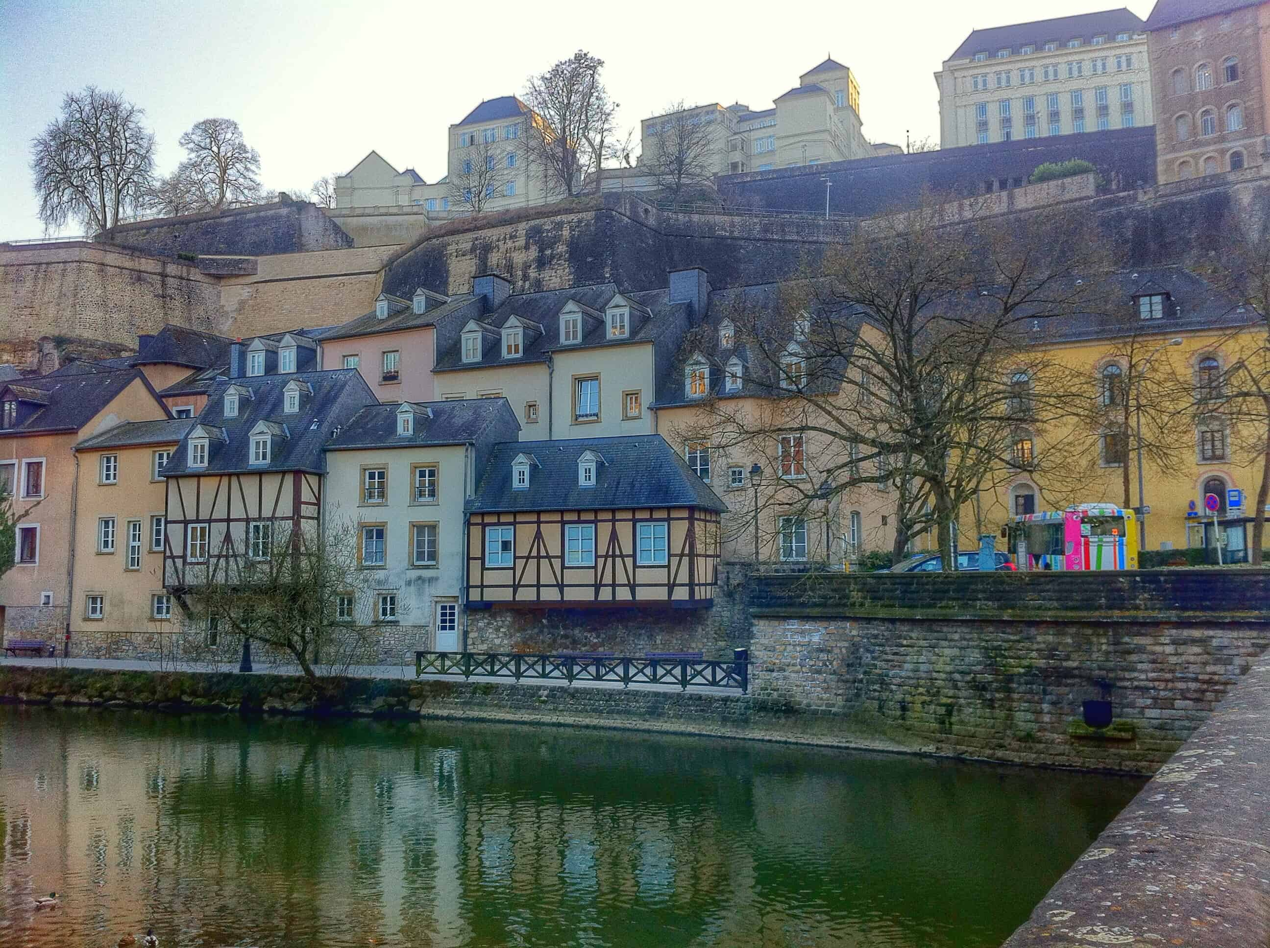 visiting the lower city of grund was one of my favorite things to do in luxembourg