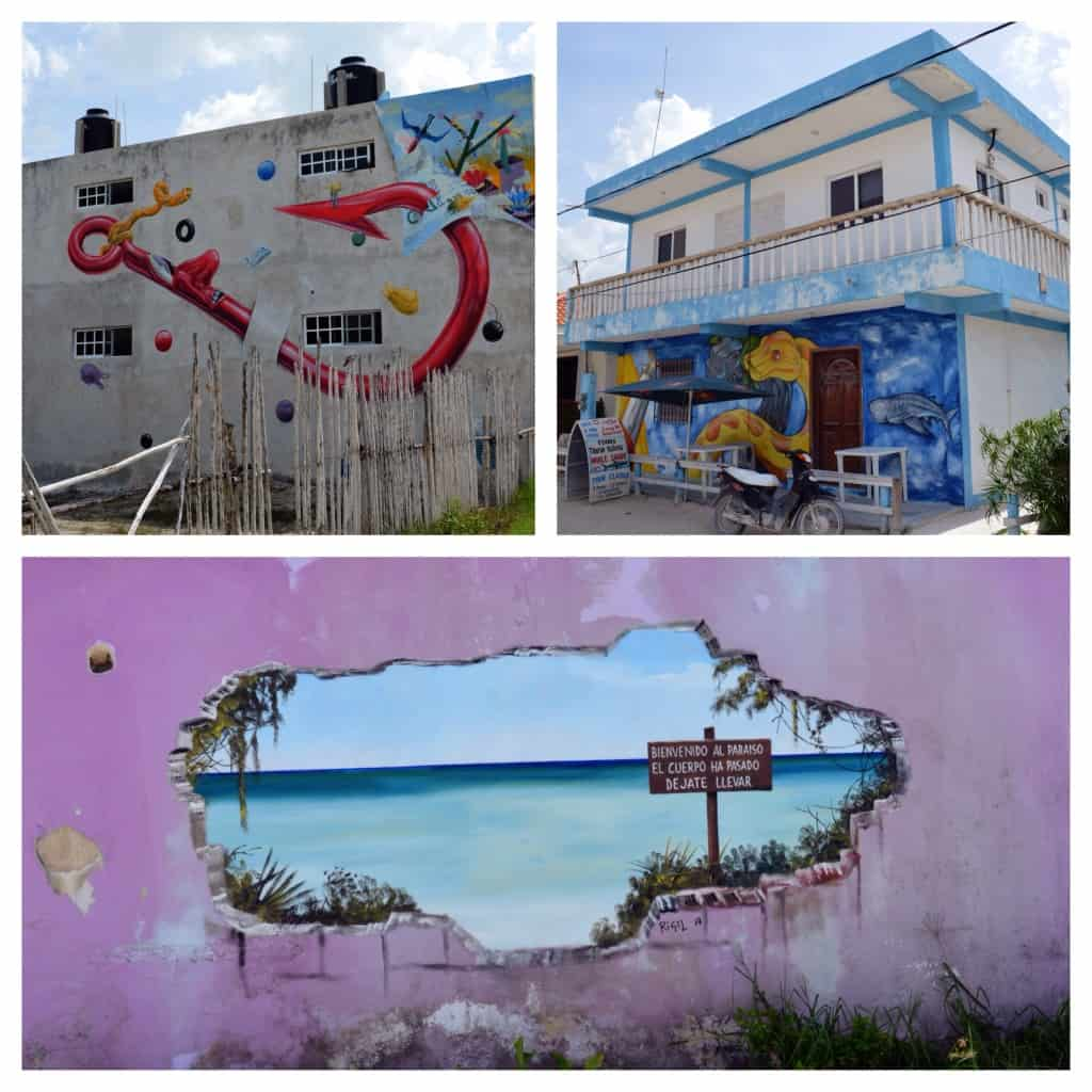 Street art in Isla Holbox
