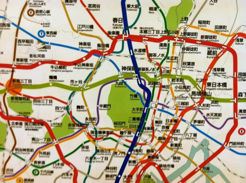 Tokyo's convoluted rapid transit map