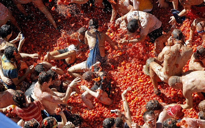 Courtesy of http://www.telegraph.co.uk/news/picturegalleries/worldnews/9506229/La-Tomatina-festival-2012-the-annual-tomato-fight-in-Bunol-Valencia-Spain.html