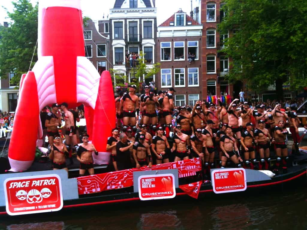 A float at Amsterdam Pride 2012