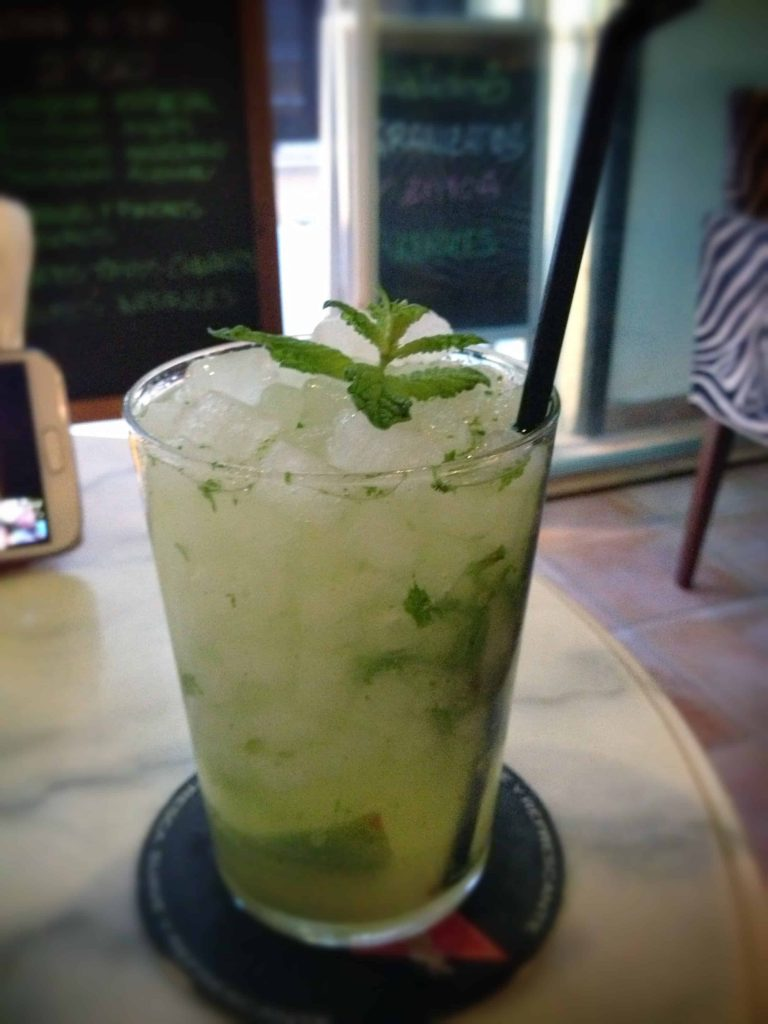 Mojito at Cafe Sitges