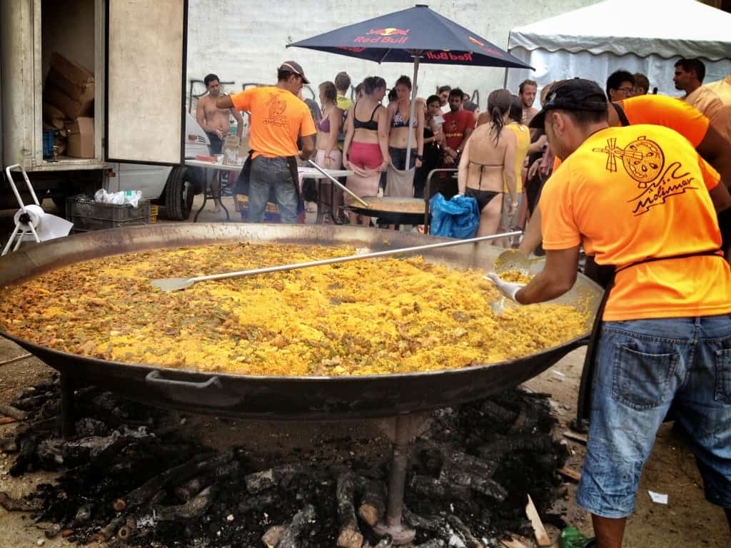 Paella at La Tomatina