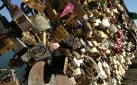Lover's Locks on Pont des Arts in Paris
