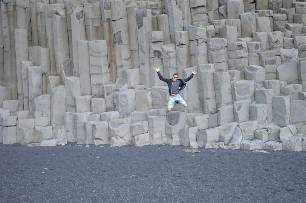 Basalt Columns at Hálsanefshellir - an awesome sight on any budget iceland trip
