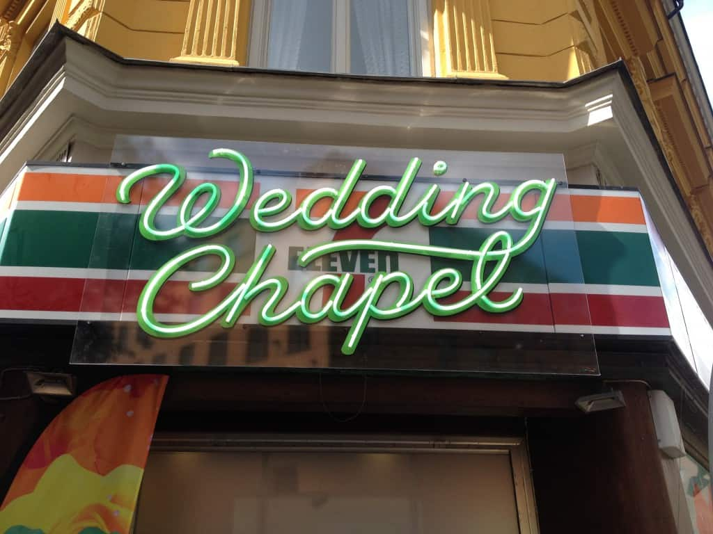 Wedding chapel during pride - not a normal part of the Stockholm Gay Scene