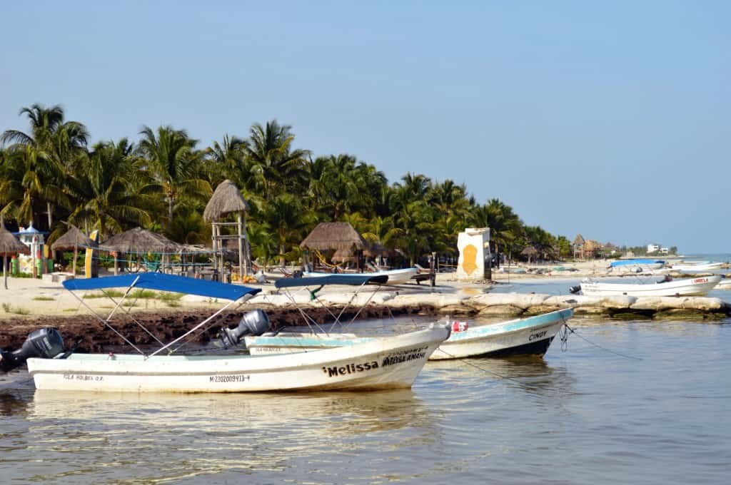 Fishing boats in Isla Holbox