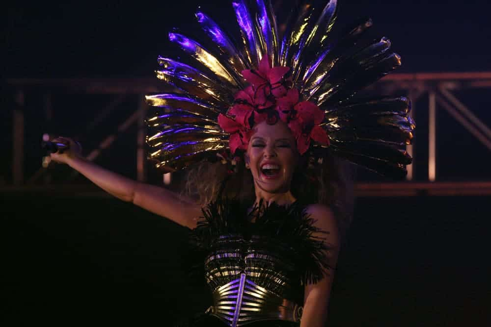Kylie Minogue performing at Gay Mardi Gras Sydney