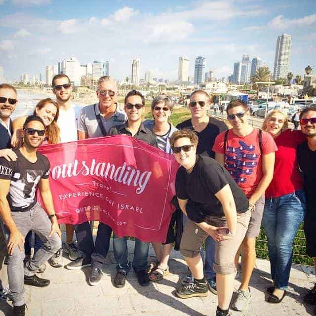 Group shot in Tel Aviv